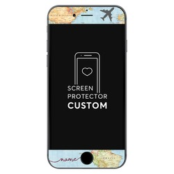 Handwritten World Map Black Screen Protector - Tempered Glass