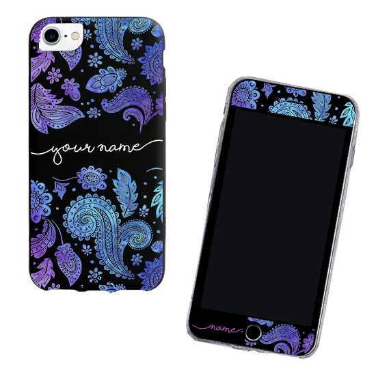 Kit Purple Handwritten (Black Case + Screen Protector Black)