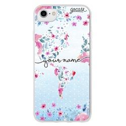 World floral map Handwritten Phone Case