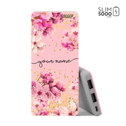 Power Bank Slim Portable Charger (5000mAh) Pink - Rose Gold Handwritten