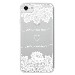 Capinha para celular Eterno Amor Renda White - Manuscrita
