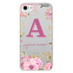 Royale Flowers Initial Pink Phone Case
