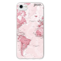 World Map Pink Phone Case