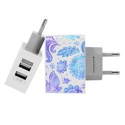 Carregador Personalizado iPhone/Android Duplo USB de Parede Gocase - Purple