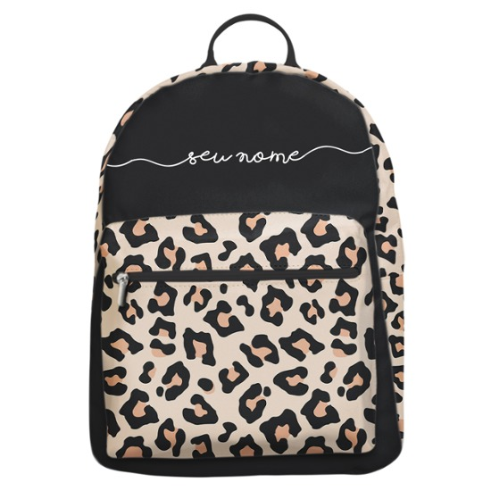 Mochila Gocase Bag - Animal Print - Onça - Manuscrita