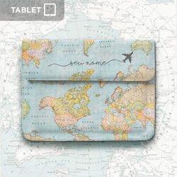 Case Clutch Tablet - Mapa Mundi Manuscrita