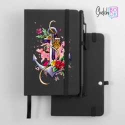 Sketchbook Black - Floral Anchor
