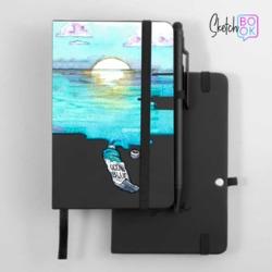 Sketchbook Black - Blue Aquarelle