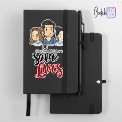 Sketchbook Black - Greys Friends