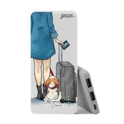 Carregador Portátil Power Bank Slim (5000mAh) - My Travel Dog by Bruna Vieira