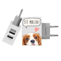 Carregador Personalizado iPhone/Android Duplo USB de Parede Gocase - Iti Malia by Bruna Vieira