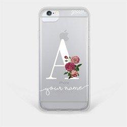 Initials Flower Serif Phone Case