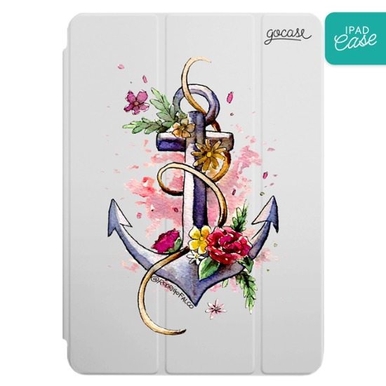iPad case - Floral Anchor
