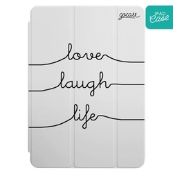 iPad case - Love Laugh Life