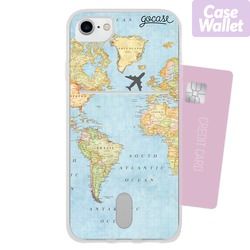 World Map - Wallet Phone Case