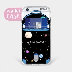 Planets Bag Handwritten - Wallet Case Phone Case