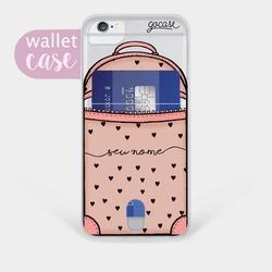 Capinha para celular Black Hearts Bag Manuscrita - Cartão