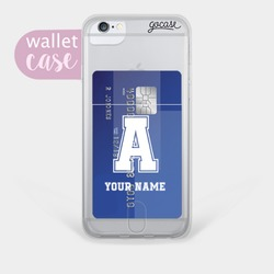 Initial Football - Wallet case Phone Case
