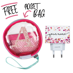 Kit Hearts Handwritten (Wall Charger + Pocket Bag)