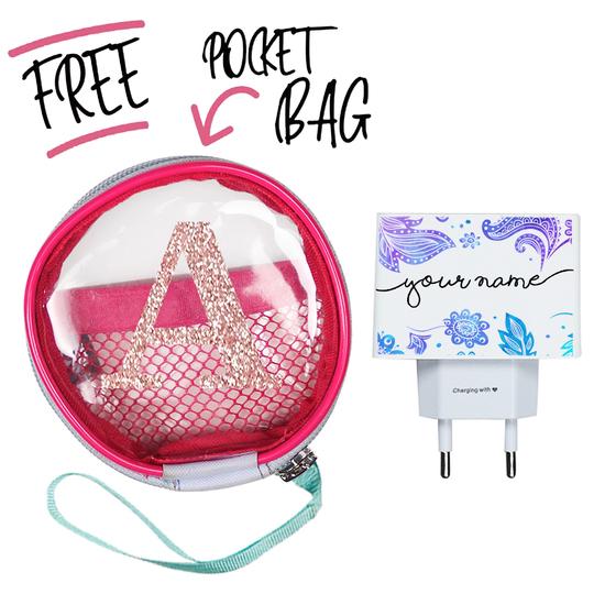 Kit Purple (Wall Charger + Pocket Bag)