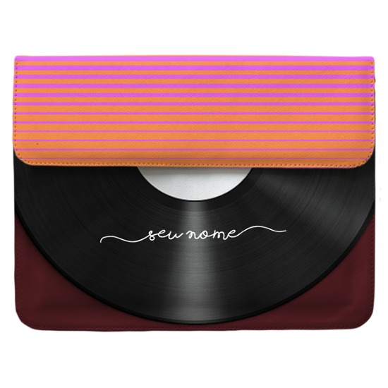 Case Clutch Notebook - Disco Manuscrita