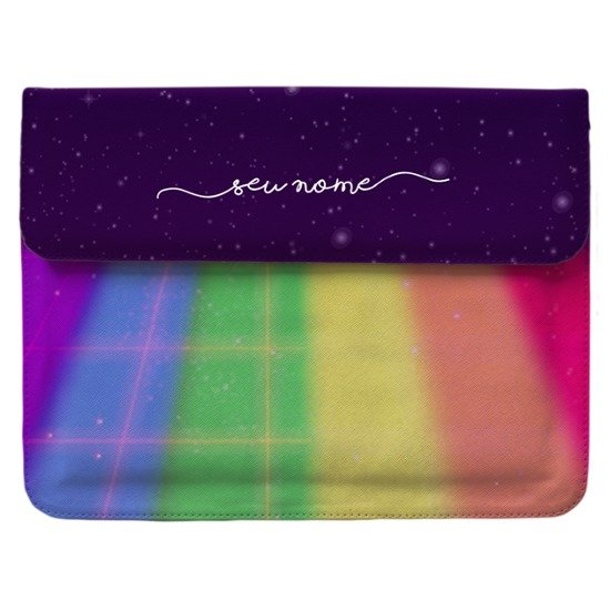 Case Clutch Notebook - Colorido Espacial Manuscrita
