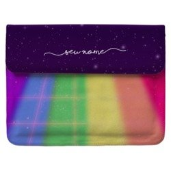 Case Clutch Notebook - Colorido Espacial Manuscrita
