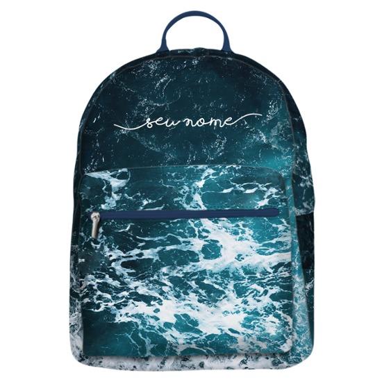 Mochila Gocase Bag - Ondas do Oceano Manuscrita