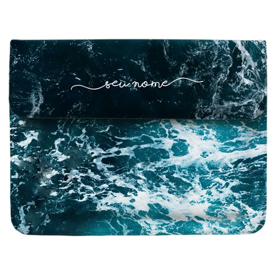 Case Clutch Notebook - Ondas do Oceano Manuscrita