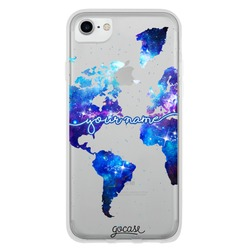 World Universe Map Clean Handwritten Phone Case