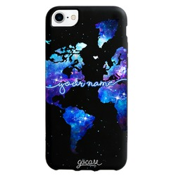 Black Case - World Universe Map Handwritten Phone Case