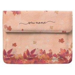 Case Clutch Notebook - Folhas de Outono Manuscrita