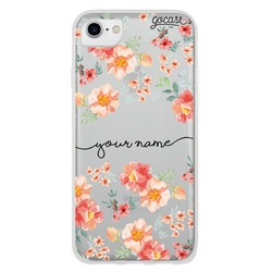 Coral Flowers Handwritten Phone Case