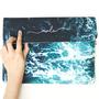 Clutch ondas do oceano manuscrita 1x1