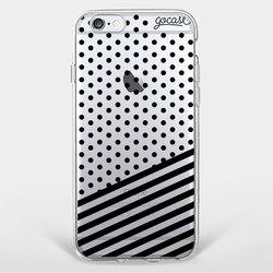 Black Striped Dots Phone Case