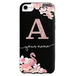 Black Case -  Flamingo glitter  Phone Case