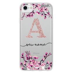 Capinha para celular Flor de Cerejeira Glitter - Clean