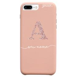 Capinha para celular Fascino - Iniciais Glitter Rosê