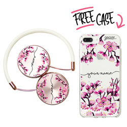 Kit Cherry Blossoms - Handwritten (headphones + case)