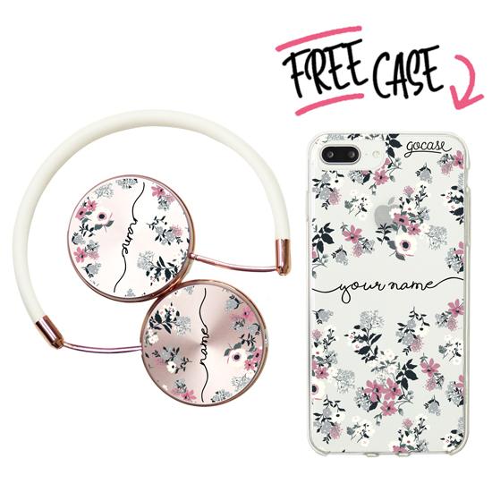 Kit Lovely Flowers - Handwritten (headphones + case)