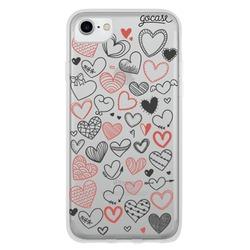 Scrawled Hearts Phone Case