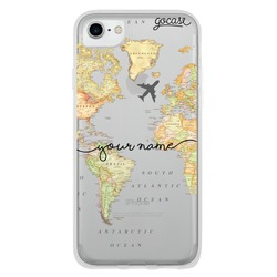 Coque World Map Blank Handwritten