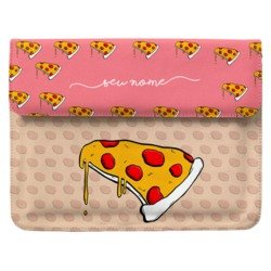 Case Clutch Notebook - Pink Pizzas Manuscrita