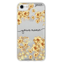 Golden Flowers Handwritten Phone Case