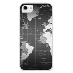 Capinha para celular Mapa Mundi Black