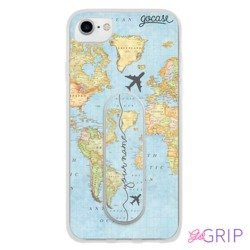 Kit World Map Handwritten (Case + GoGrip)