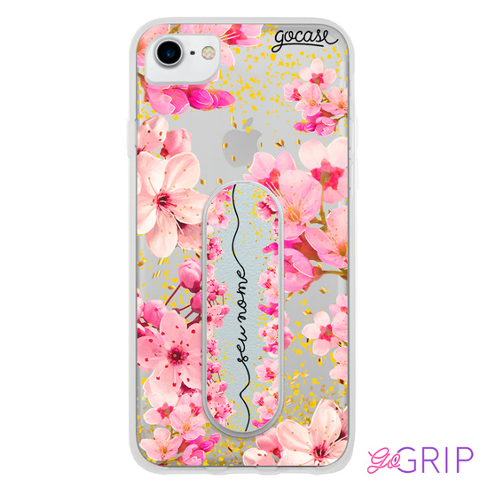 Kit Rose Gold Manuscrita (Capinha+ GoGrip)