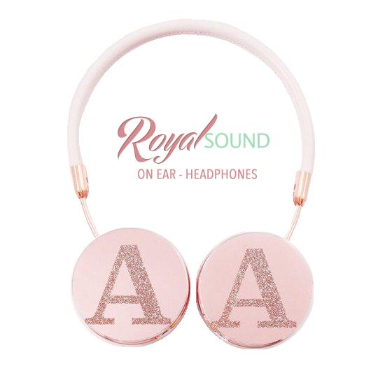 Royal Sound Headphones - Initial Glitter