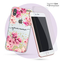 Kit Rose Gold Handwritten (Case Standard + Premium Double Tempered Glass Screen Protector)