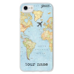 World Map with Name Phone Case